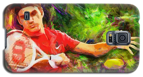 Roger Federer Galaxy S5 Case by RochVanh