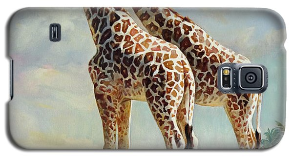Romance In Africa - Love Among Giraffes Galaxy S5 Case by Svitozar Nenyuk