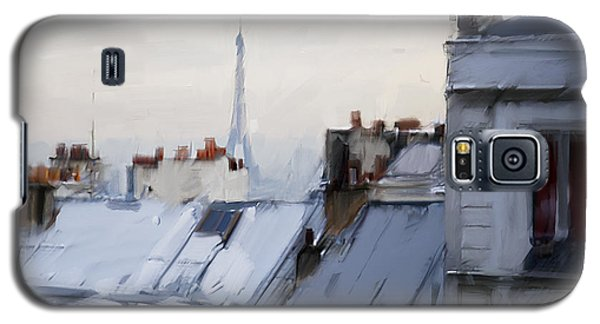 Rooftops Of Paris Galaxy S5 Case by H James Hoff