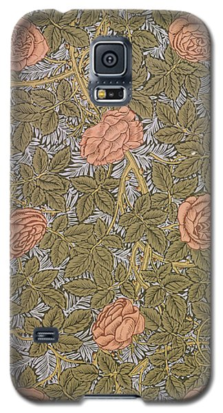 Tapestries - Textiles Galaxy S5 Cases - Rose 93 wallpaper design Galaxy S5 Case by William Morris