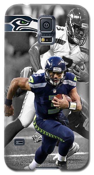 Russell Wilson Seahawks Galaxy S5 Case by Joe Hamilton
