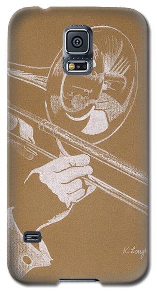 Sacred Trombone Galaxy S5 Case by Karen  Loughridge KLArt
