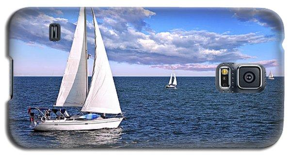 Buy Galaxy S5 Cases - Sailboats at sea Galaxy S5 Case by Elena Elisseeva