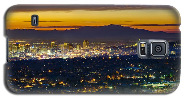 Salt Lake City At Dusk Galaxy S5 Case by James Udall
