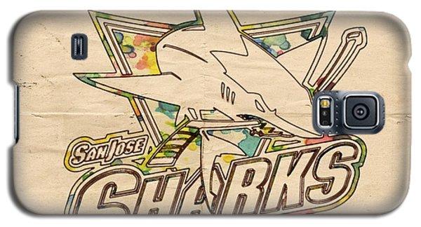 San Jose Sharks Vintage Poster Galaxy S5 Case by Florian Rodarte