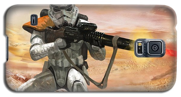 Science Fiction Galaxy S5 Cases - Sand Trooper - Star Wars the Card Game Galaxy S5 Case by Ryan Barger