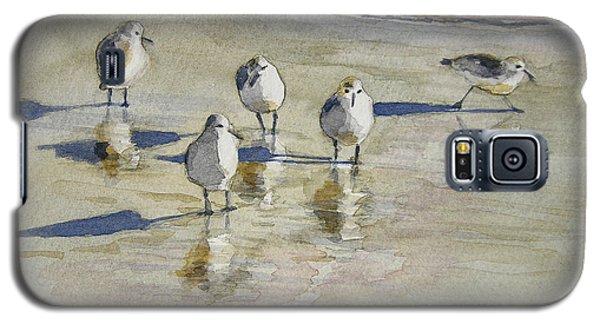 Sandpipers 2 Watercolor 5-13-12 Julianne Felton Galaxy S5 Case by Julianne Felton