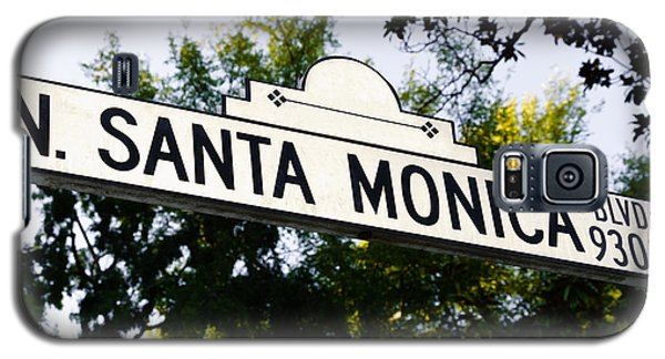 Santa Monica Blvd Street Sign In Beverly Hills Galaxy S5 Case by Paul Velgos