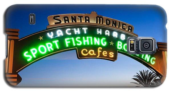 Santa Monica Pier Sign Galaxy S5 Case by Paul Velgos