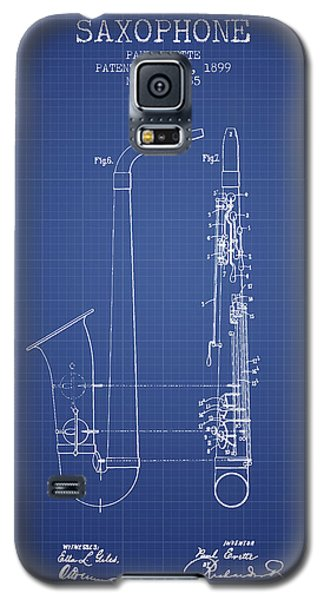 Saxophone Patent From 1899 - Blueprint Galaxy S5 Case by Aged Pixel