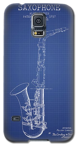 Saxophone Patent From 1937 - Blueprint Galaxy S5 Case by Aged Pixel