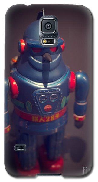 Science Fiction Galaxy S5 Cases - Science Fiction Vintage Robot Toy Galaxy S5 Case by Edward Fielding