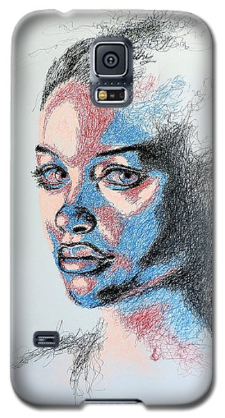 Portraits Galaxy S5 Cases - Scratched  Galaxy S5 Case by Fithi Abraham