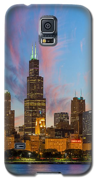 Sears Tower Sunset Galaxy S5 Case by Sebastian Musial