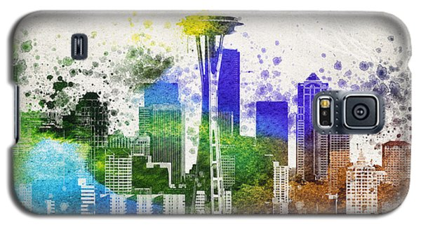 Seattle City Skyline Galaxy S5 Case by Aged Pixel