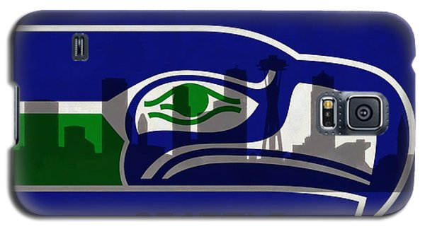 Seattle Seahawks On Seattle Skyline Galaxy S5 Case by Dan Sproul