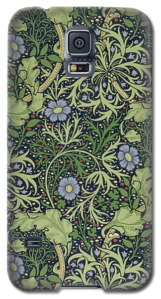 Tapestries - Textiles Galaxy S5 Cases - Seaweed wallpaper design Galaxy S5 Case by William Morris