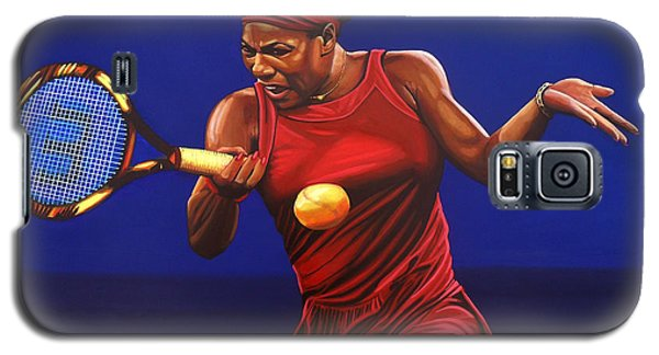 Serena Williams Painting Galaxy S5 Case by Paul Meijering