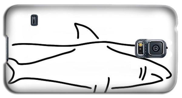 Shark Shark Fish Fin Sea Galaxy S5 Case by Lineamentum