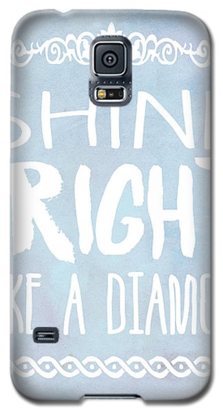 Shine Bright Blue Galaxy S5 Case by Pati Photography