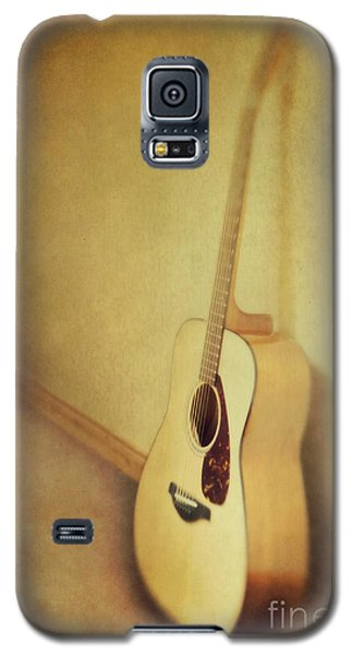 Still Life Galaxy S5 Cases - Silent Guitar Galaxy S5 Case by Priska Wettstein