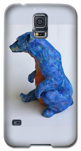 Ceramics Galaxy S5 Cases - Sitting bear-sculpture Galaxy S5 Case by Derrick Higgins