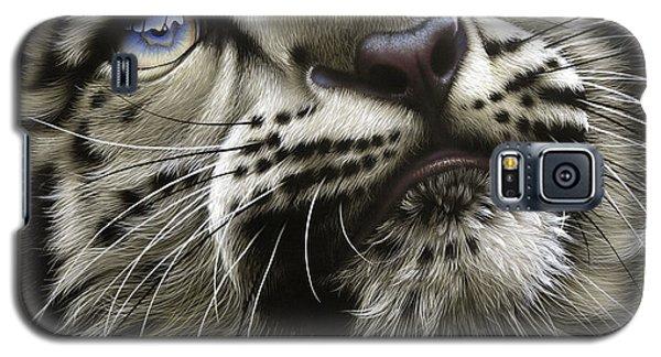 Galaxy S5 Cases - Snow Leopard Cub Galaxy S5 Case by Jurek Zamoyski