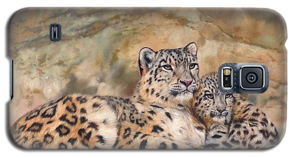 Snow Leopards Galaxy S5 Case by David Stribbling