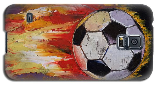 Soccer Galaxy S5 Case by Michael Creese