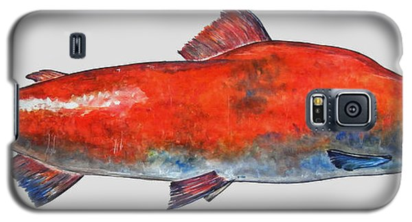Sockeye Salmon Galaxy S5 Case by Juan  Bosco