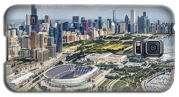 Soldier Field And Chicago Skyline Galaxy S5 Case by Adam Romanowicz