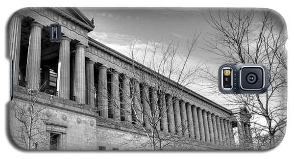 Soldier Field In Black And White Galaxy S5 Case by David Bearden