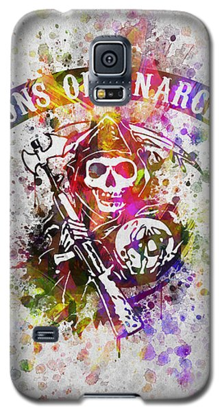 Sons Of Anarchy In Color Galaxy S5 Case by Aged Pixel