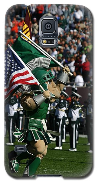 Sparty At Football Game Galaxy S5 Case by John McGraw