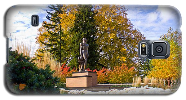 Sparty In Autumn  Galaxy S5 Case by John McGraw