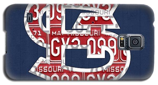 St. Louis Cardinals Baseball Vintage Logo License Plate Art Galaxy S5 Case by Design Turnpike