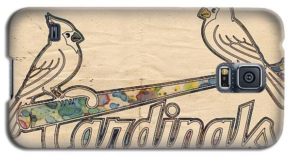 St Louis Cardinals Poster Art Galaxy S5 Case by Florian Rodarte