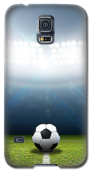 Stadium And Soccer Ball Galaxy S5 Case by Allan Swart