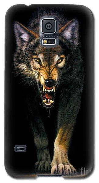 Portraits Galaxy S5 Cases - Stalking Wolf Galaxy S5 Case by MGL Studio - Chris Hiett