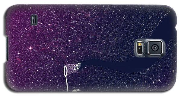 Science Fiction Galaxy S5 Cases - Star field purple Galaxy S5 Case by Budi Satria Kwan