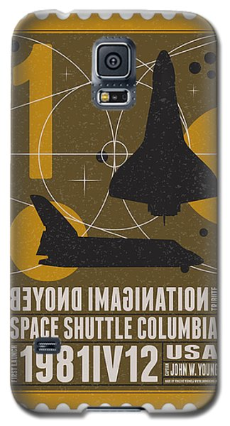 Science Fiction Galaxy S5 Cases - Starschips 01-poststamp - Spaceshuttle Galaxy S5 Case by Chungkong Art