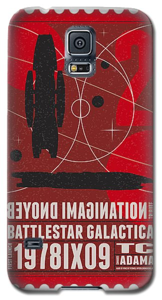 Starschips 02-poststamp - Battlestar Galactica Galaxy S5 Case by Chungkong Art