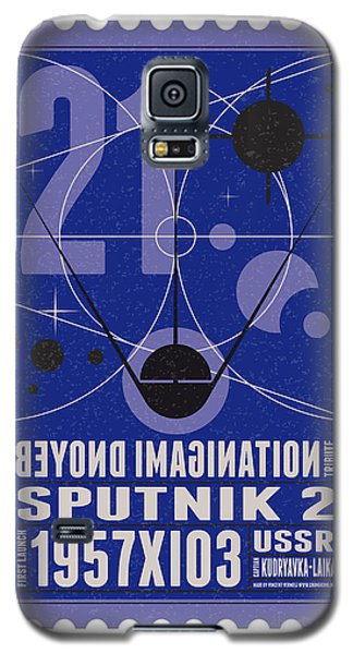 Science Fiction Galaxy S5 Cases - Starschips 21- poststamp - Sputnik 2 Galaxy S5 Case by Chungkong Art