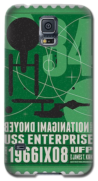 Starschips 34-poststamp - Uss Enterprise Galaxy S5 Case by Chungkong Art