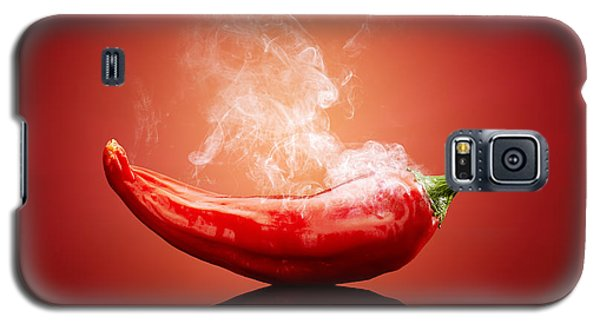 Popular Galaxy S5 Cases - Steaming hot Chilli Galaxy S5 Case by Johan Swanepoel