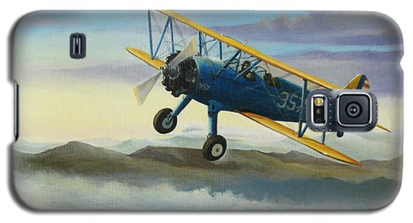 Stearman Biplane Galaxy S5 Case by Stuart Swartz