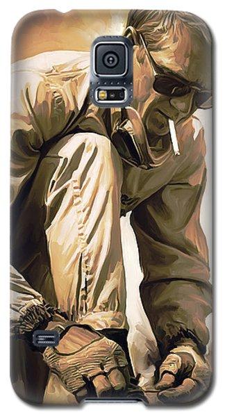 Celebrities Galaxy S5 Cases - Steve McQueen Artwork Galaxy S5 Case by Sheraz A