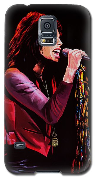 Steven Tyler In Aerosmith Galaxy S5 Case by Paul Meijering