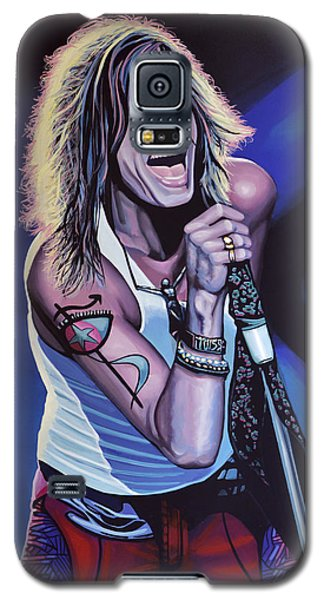 Steven Tyler Of Aerosmith Galaxy S5 Case by Paul Meijering