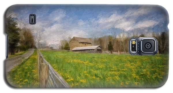 Galaxy S5 Cases - Stone Barn On A Spring Morning Galaxy S5 Case by Lois Bryan